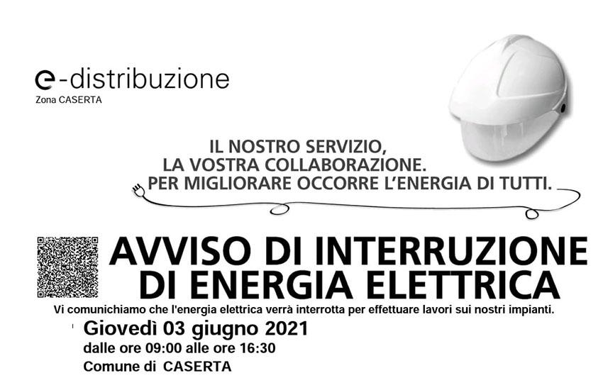 Casertavecchia, interruzione della corrente elettrica giovedì 3 giugno