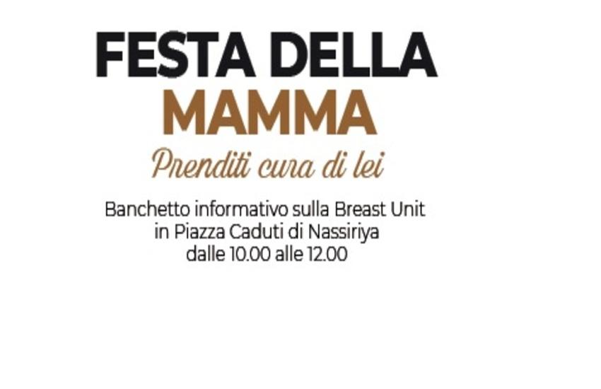 Festa della Mamma: campagna informativa sul tumore al seno presso l'hub di Ragusa