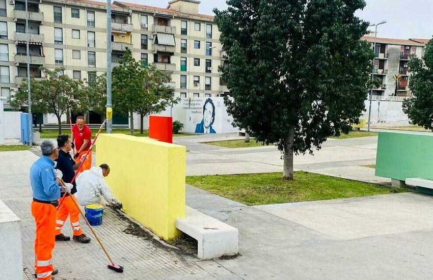 Piazza Beppe Montana, parte la riqualificazione dopo gli atti vandalici, le parole di Erio Buceti