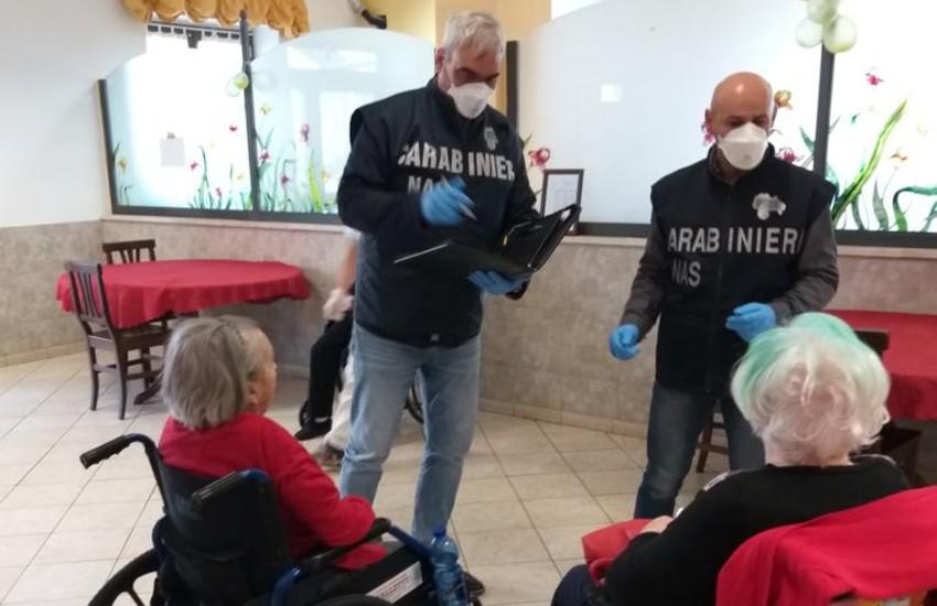 Personale non vaccinato a lavoro nelle Rsa: le ispezioni dei Nas a Latina e provincia