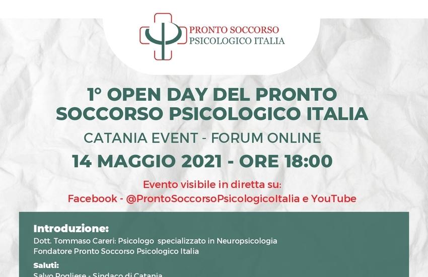 """Catania, """"Primo Open Day del Pronto Soccorso Psicologico"""""""