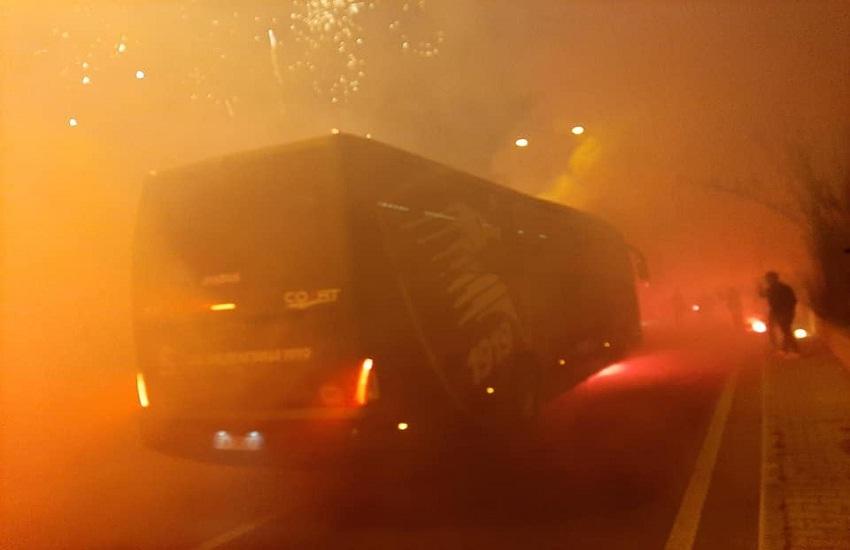 Salernitana in festa, la notte granata dei tifosi (video)
