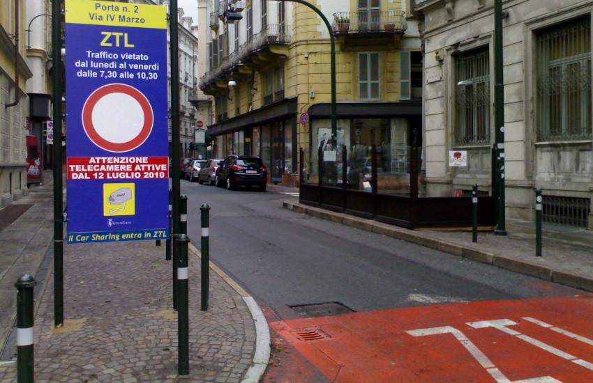 Torino, ZTL: sospensione fino a metà settembre
