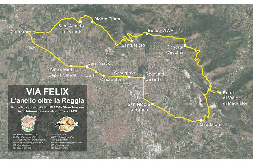 Nasce la Via Felix- l'anello oltre la Reggia. 52 km a Caserta in 3 giorni
