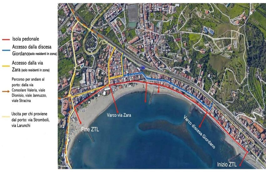Giardini Naxos: modifica orario ZTL. Tutti i dettagli