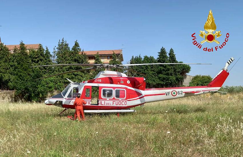 Carinola, continuano con l'elicottero le ricerche del 76enne scomparso dal 25 giugno