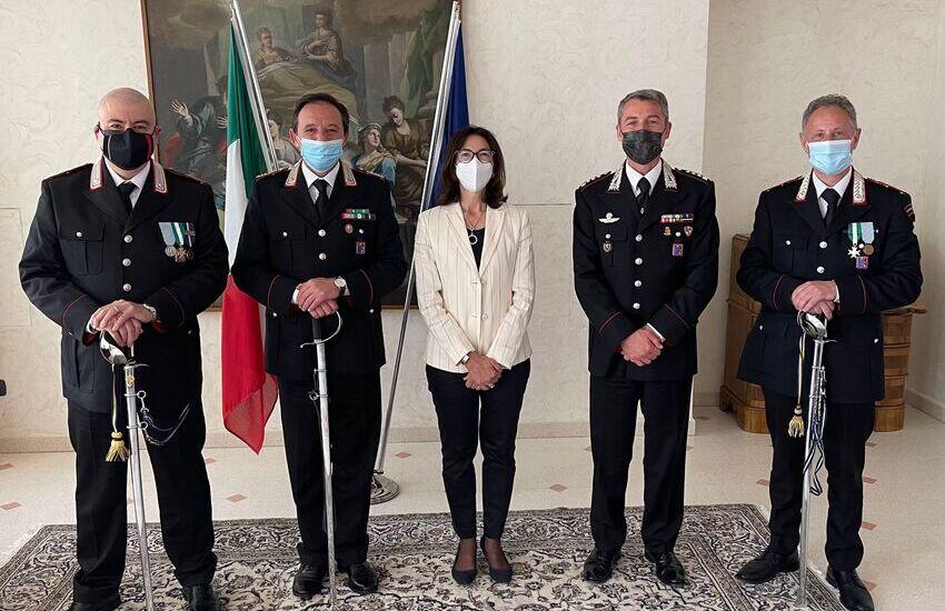 Conferimento del cavalierato al merito della Repubblica italiana al Comandante  della stazione dei Carabinieri di Pizzoli