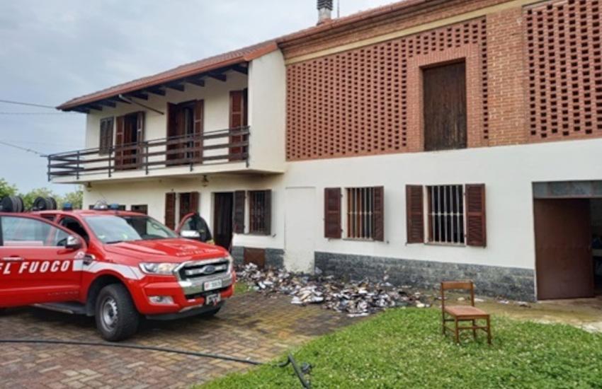Altavilla Monferrato: brucia una cascina. Fermato il piromane: è un 56enne astigiano
