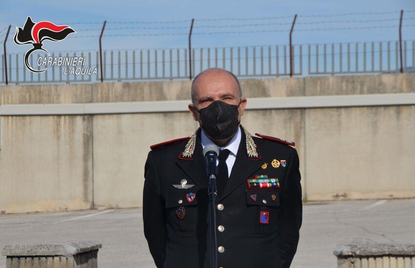 """Il comandante della Legione Carabinieri """"Abruzzo e Molise"""" in visita a L'Aquila per il saluto di commiato"""