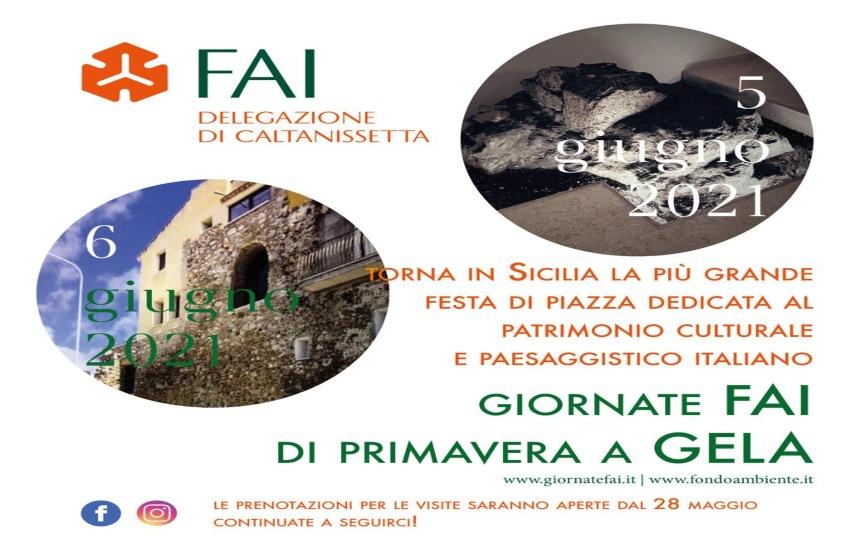 Giornate FAI di Primavera a Gela, sabato 5 e domenica 6 giugno 2021 torna in Sicilia la più grande festa di piazza dedicata al patrimonio culturale e paesaggistico italiano