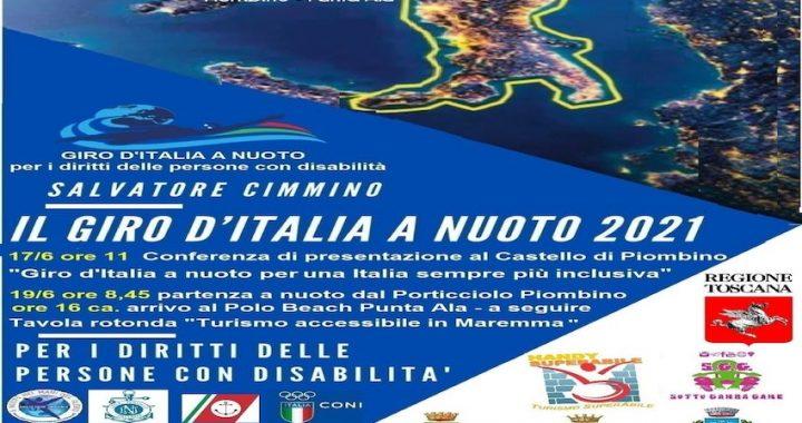 GIRO D'ITALIA A NUOTO, APPRODA A PIOMBINO L'IMPRESA DELL'ATLETA DISABILE SALVATORE CIMMINO