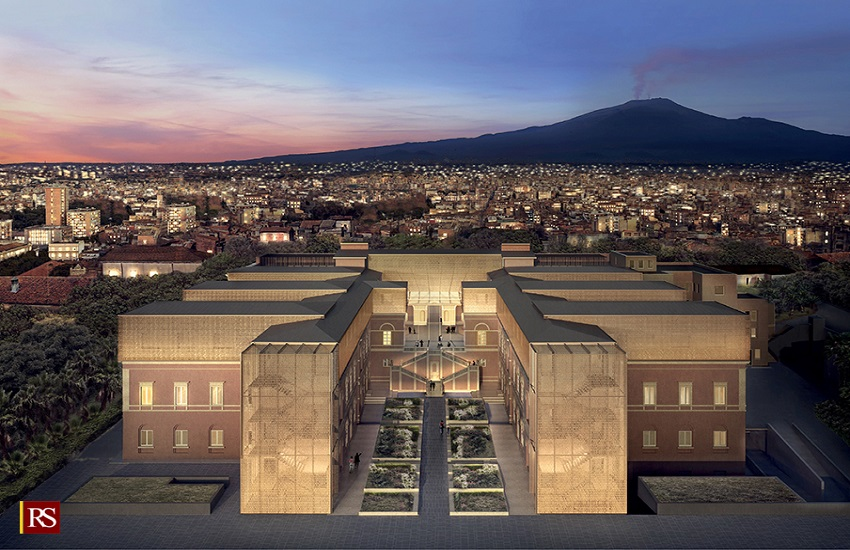 Presentato il progetto del Museo dell'Etna all'ex ospedale Vittorio Emanuele: soddisfatti Musumeci e Pogliese