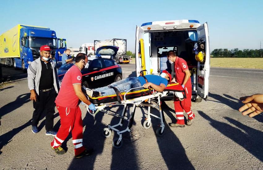 """Pontecurone (AL), camion ferisce operaio in sciopero. Il sindacato: """"sfiorato un altro morto"""""""