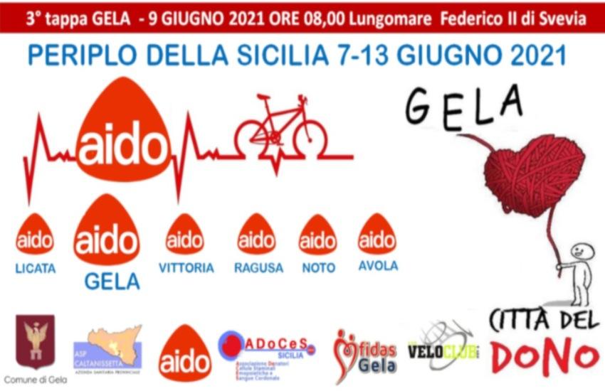 Gela accoglie Michail Speciale, il biker del dono. Periplo della Sicilia: mercoledì 9 giugno Lungomare Federico II