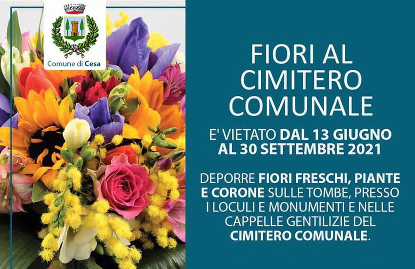 Stop ai fiori nel cimitero di Cesa. Ecco l'ordinanza del sindaco Guida