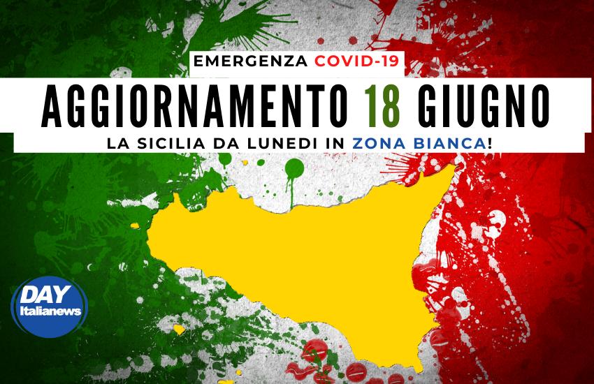 Covid 18 giugno, Zona Bianca da lunedì ma, in Sicilia, l'incidenza dei casi è il doppio della media italiana