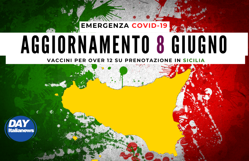 Covid 8 giugno, Sicilia, risalgono i casi dopo il bassissimo numero di ieri, vaccini per over 12