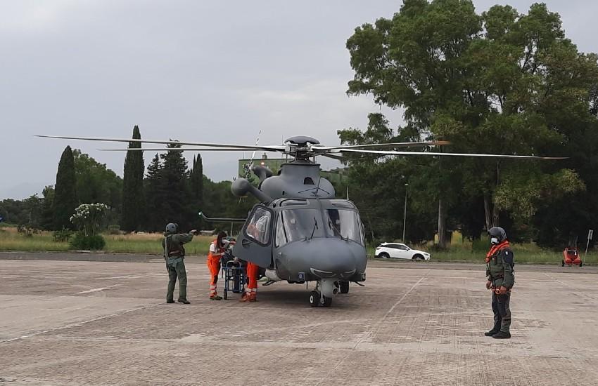 Volo d'emergenza degli uomini del 15° Stormo; da Ponza all'ospedale di Latina per salvare una vita