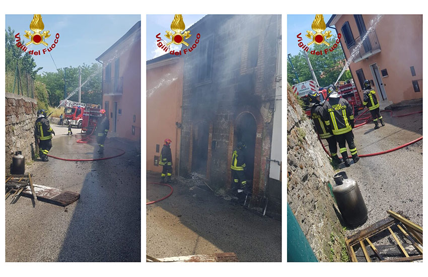 Cesinali, scoppia incendio in un palazzo. All'interno una bombola di gpl
