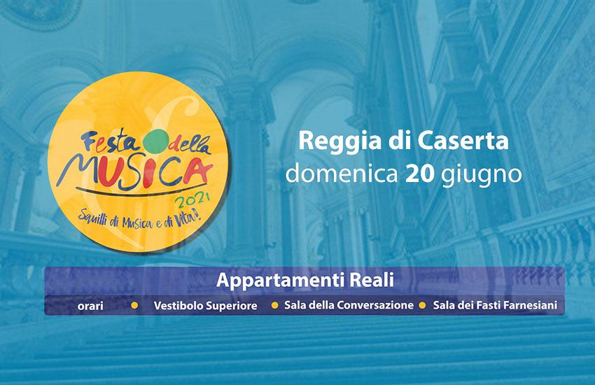 Alla Reggia di Caserta ben 15 concerti no-stop per la Festa Europea della Musica