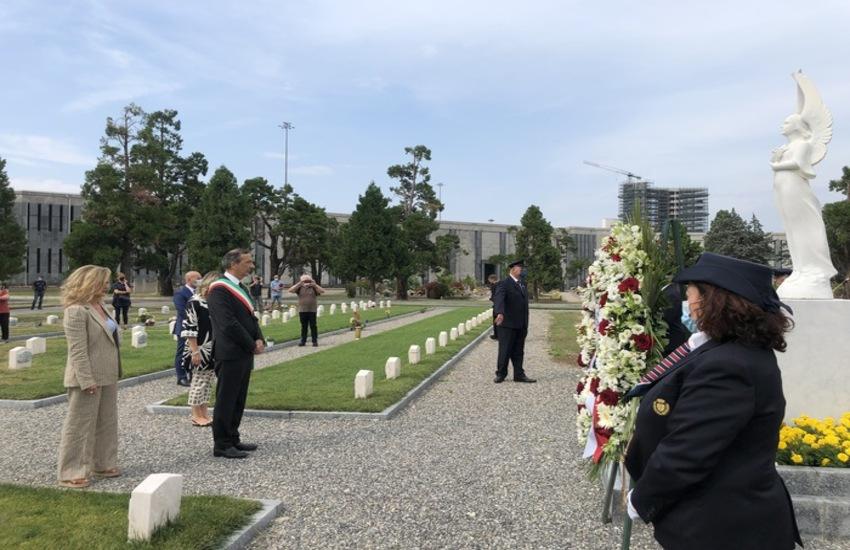 Milano: Monumento per vittime Covid al Cimitero Maggiore