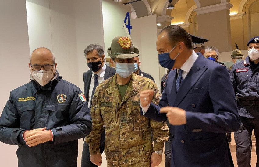 Covid, lunedì il generale Figliuolo a Torino e Frabosa Sottana (CN)