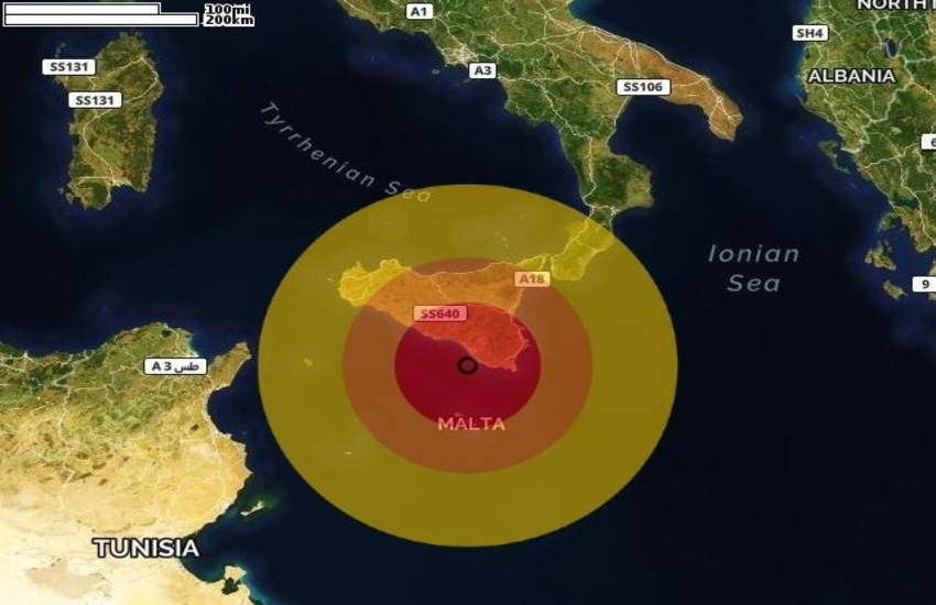 Sisma di magnitudo 3.6 a Marina di Ragusa