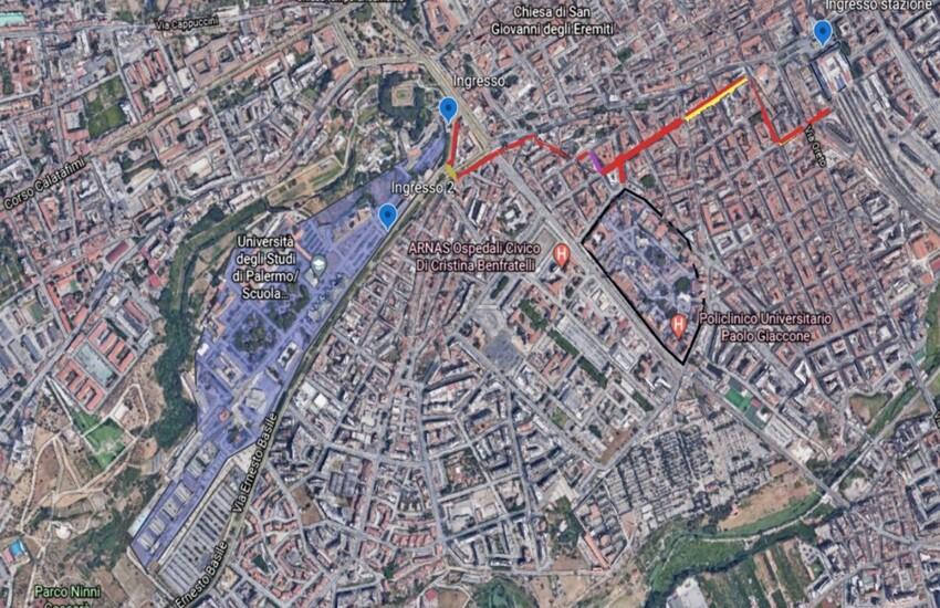 Palermo – Una pista ciclabile collegherà la stazione centrale all'Università