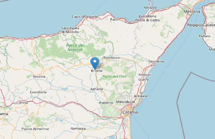 Due scosse nella notte a Bronte, toccato il livello di magnitudo 1.7