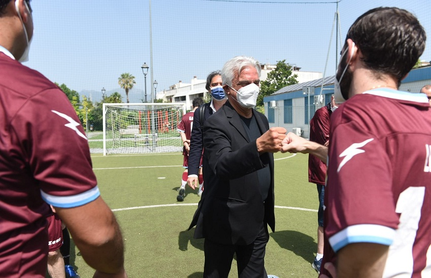La Salernitana è in A, la soddisfazione del sindaco Napoli