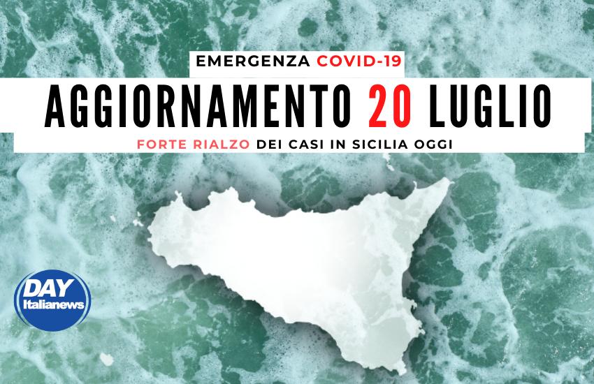 Covid 20 luglio, forte rialzo dei casi in Sicilia. Tasso di positività sempre alto