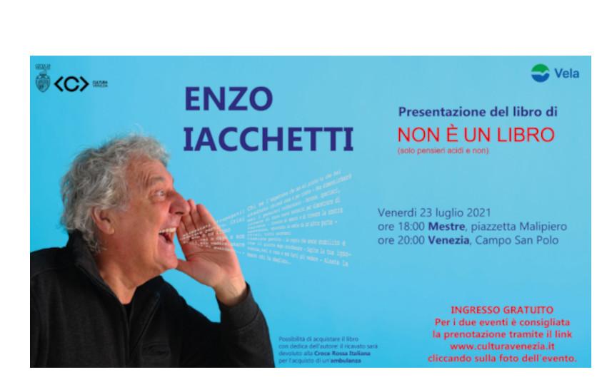 Enzo Iacchetti a Venezia e Mestre per presentare il suo libro e raccogliere fondi per la Croce Rossa