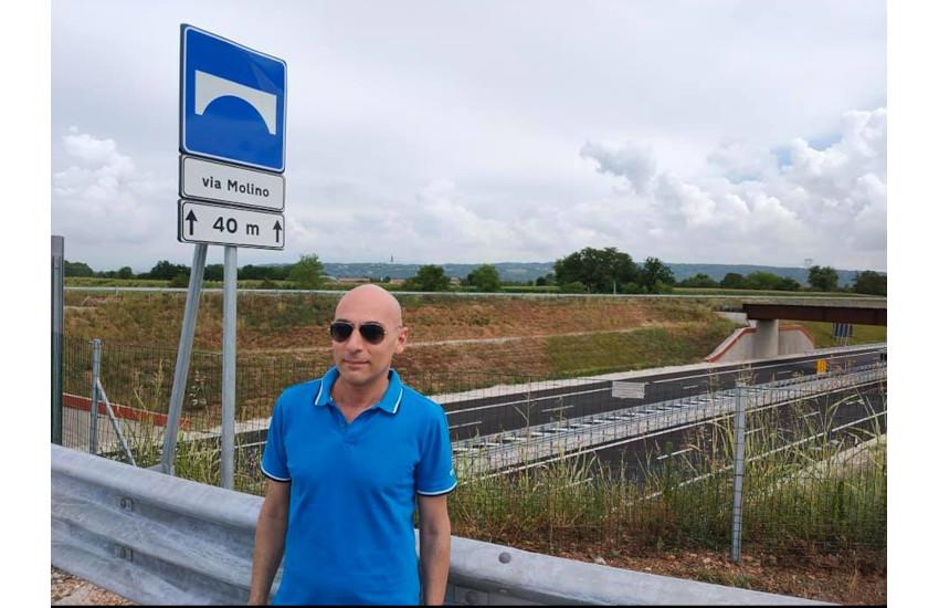 Via Molino, consegnato oggi l'ultimo dei tre sovrappassi che attraversano la SPV a Montebelluna