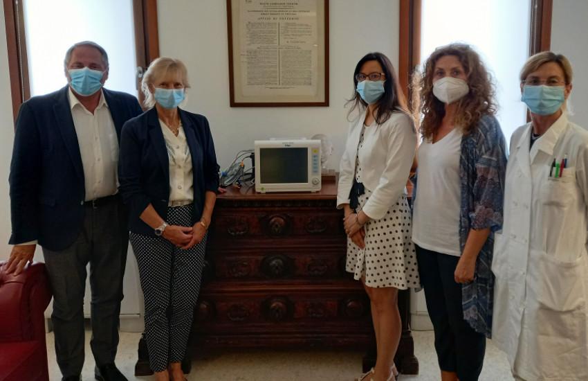 Donato dal Rotary Club Treviso monitor multiparametrico per la terapia intensiva neonatale di Treviso