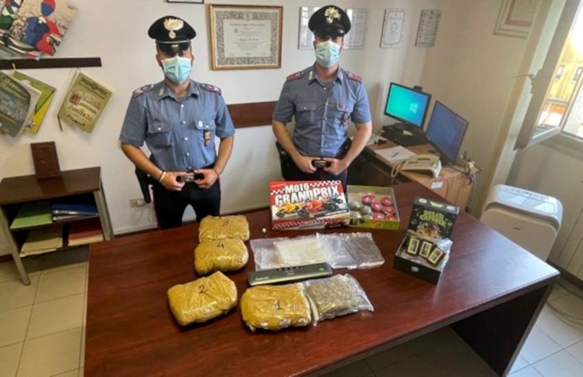 Verbania, 4kg di marijuana e hashish nei giocattoli: arrestato 28enne