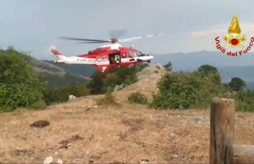 Due ragazze si perdono sul monte Semprevisa , salvate dai vigili del fuoco