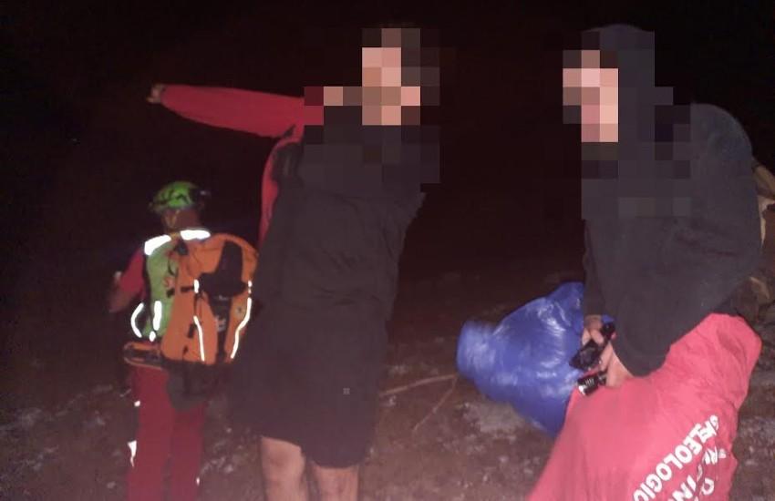 Dispersi sul monte Semprevisa, recuperati dal soccorso alpino