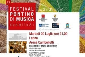 Domani il Festival Pontino 2021 fa tappa all'Arena Cambellotti