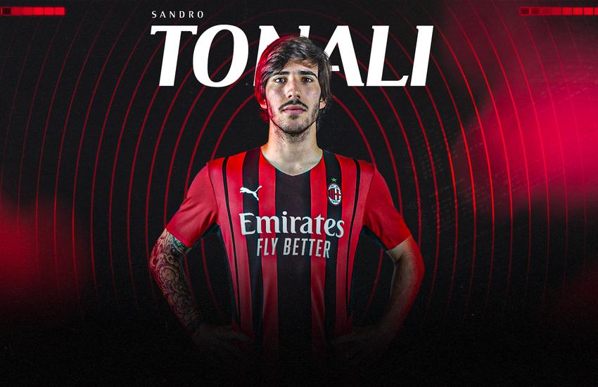 Sandro Tonali è ufficialmente un calciatore del Milan