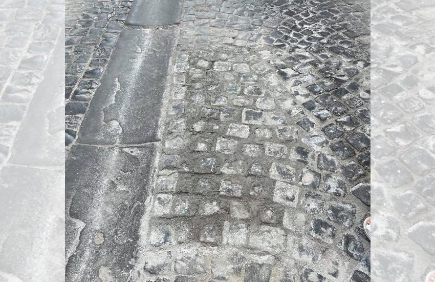 Sezze, terminati i lavori di ripristino di via San Carlo: un'opera che non è piaciuta a tutti