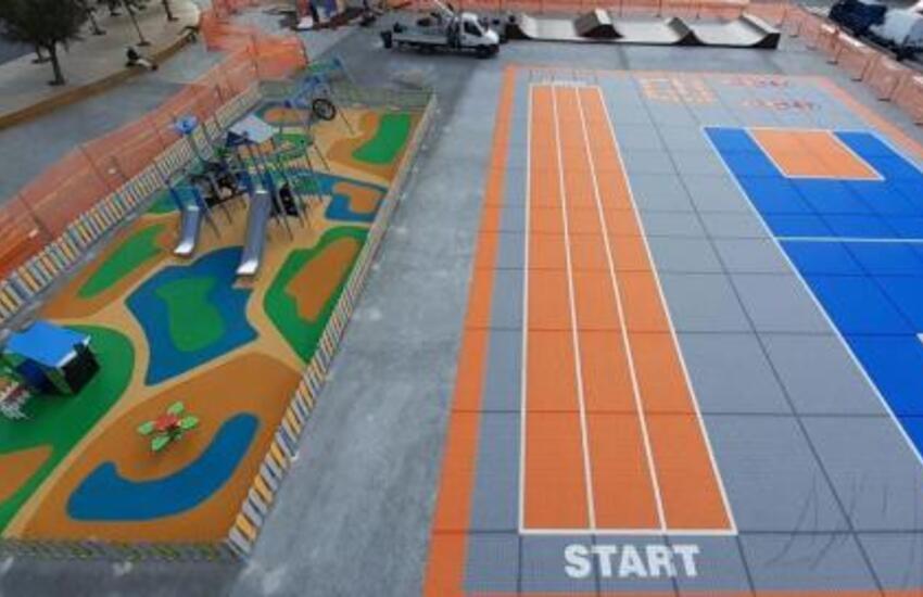 Radura della Memoria, inaugurazione del parco giochi per bambini e dello skate park