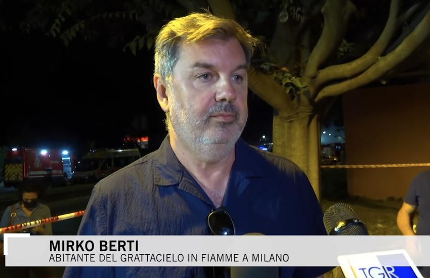 Milano: Grattacielo in fiamme, residente 'Non ho più nulla' (Video)