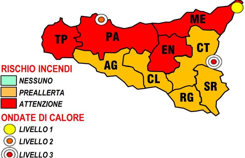 Caldo in Sicilia – Allerta Protezione Civile, attesi 39° gradi Mercoledì 4 Agosto. Il bollettino completo