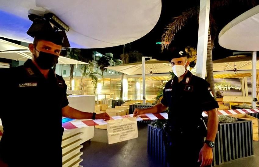 Terracina, violazioni alle norme anti covid: multe e locali chiusi