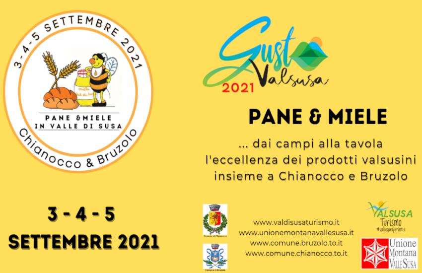 """Dal 3 al 5 settembre, Bruzolo e Chianocco insieme per la sagra """"Pane e Miele"""": il programma"""