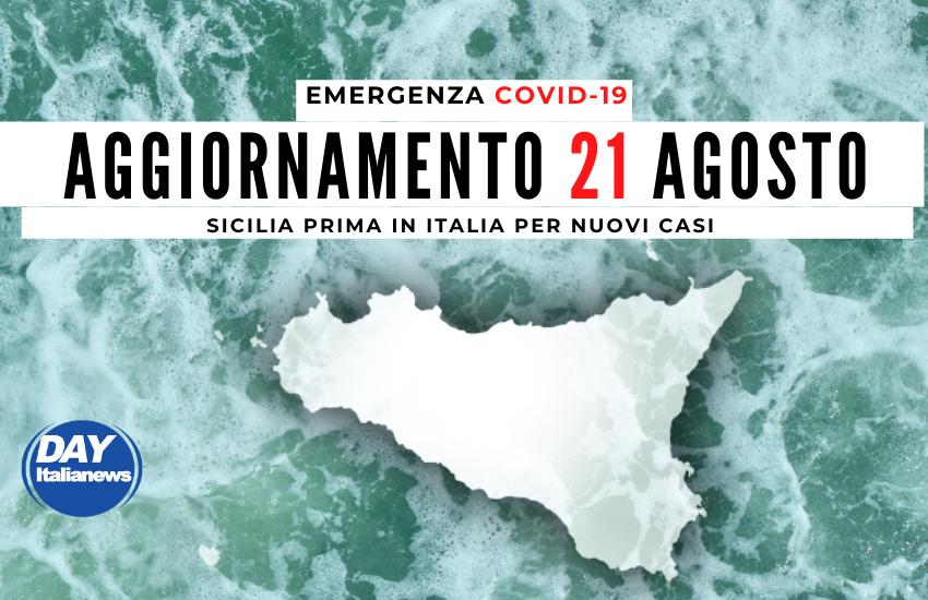 Covid, 21 agosto, Sicilia, prima in Italia per nuovi casi, tasso di positività oltre l'8%