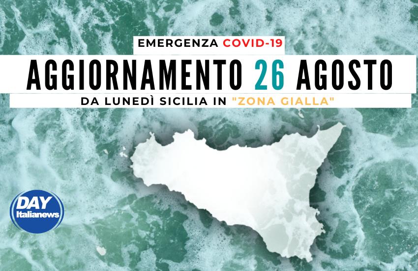 """Covid 26 agosto, la curva non scende in Sicilia. Resta alto il tasso di positività, """"Zona Gialla"""" da lunedì"""