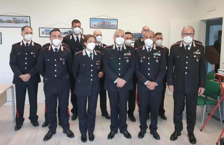 Il Comandante delle Unità Forestali, Ambientali e Agroalimentari dei Carabinieri Antonio Pietro Marzo, ha visitato i reparti della specialità del Veneto