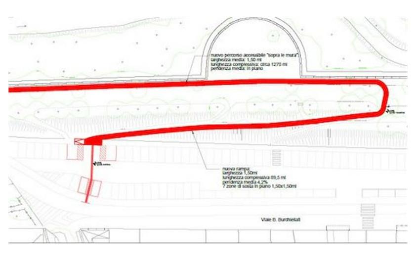 Treviso, al via la procedura di gara per i lavori di riqualificazione, abbattimento delle barriere architettoniche e creazione di percorsi sulle mura