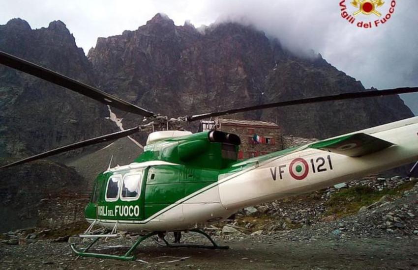 Grandinata sul Monviso, 2 alpinisti in difficoltà: intervengono i Vigili del Fuoco